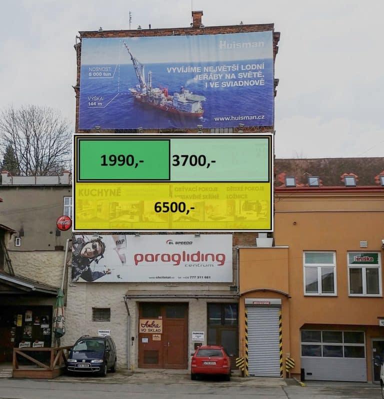 Reklama A billboard Nádražní 1088