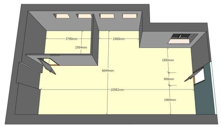 Frýdečanka 1.NP nebytový prostor 103 3D model